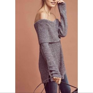 Anthropologie Lucerne Off-The-Shoulder Sweater XS